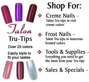 Talon Tru Tips Arefull Nail Tip Artificial Fingernails They Are Beautiful Pre Painted